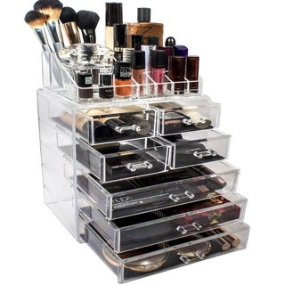 Sorbus Makeup and Jewelry Storage Case Display Set (Set Style 1)