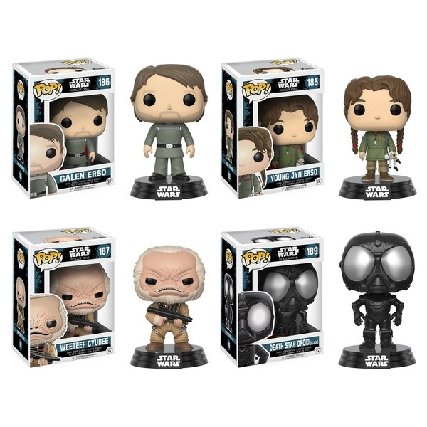 Funko POP! Star Wars Rouge One W2 Collectors Set: Galen Erso, Young Jyn Erso, Weeteef Cyubee, Death Star Droid 29331968