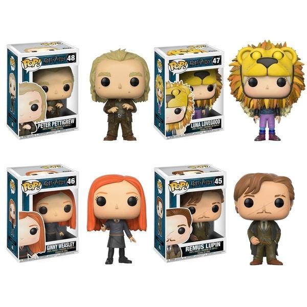 Funko POP! Movies Harry Potter Series 4 Collectors Set; Peter Pettigrew, Luna Lovegood(Lion Head), Ginny Weasley, Remus Lupin 29331971