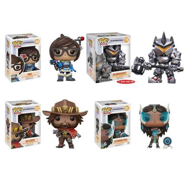 Funko POP! Games Overwatch Collectors Set; Mei, Reinhardt 6, McCree, Symmetra 29331972