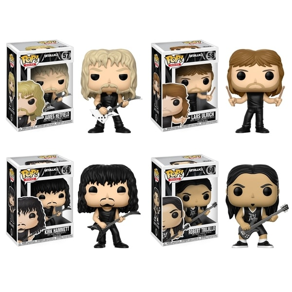 Funko POP! Music Metallica Collectors Set; James Hetfield, Lars Ulrich, Kirk Hammett, Robert Trujillo 29331973