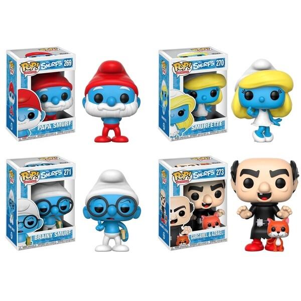 Funko POP! Animation Smurfs; Papa Smurf, Smurfette, Brainy Smurf, Gargamel(with Azrael) 29331974