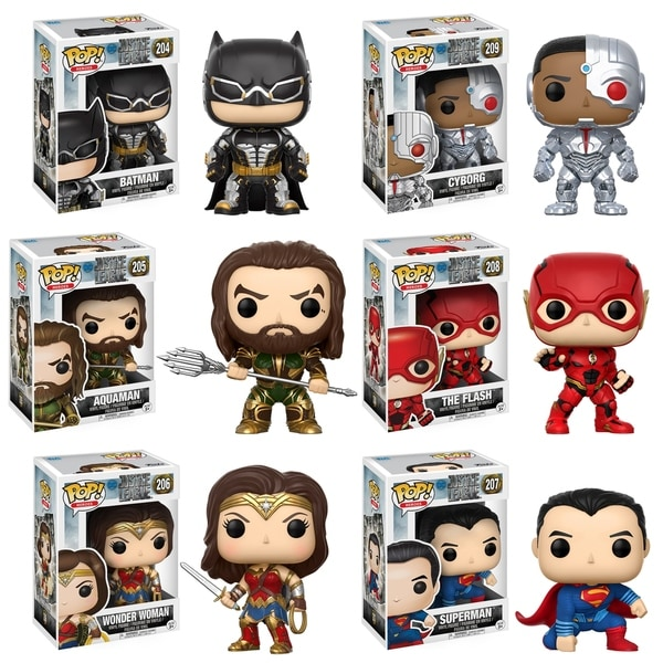 Funko POP! Movies DC Justice League Collectors Set; Batman, Aquaman, Cyborg, The Flash, Wonder Woman, Superman 29331978