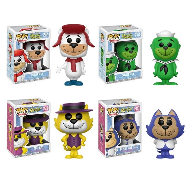 Funko POP! Animation Hanna Barbera Collectors Set; Breezly, Sneezly, Top Cat, Benny the Ball 29331979