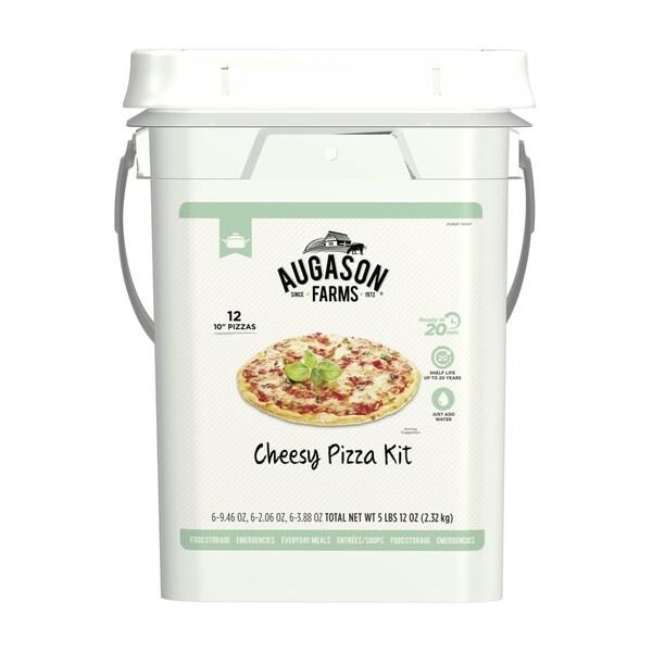 Augason Farms Cheesy Pizza Kit Emergency Food 4-Gallon Pail 12 Pizzas 29341050