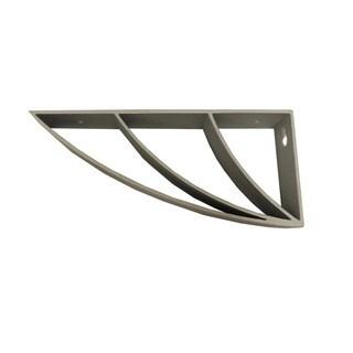 InPlace 6-pack Silver Curved Metal Shelf Bracket