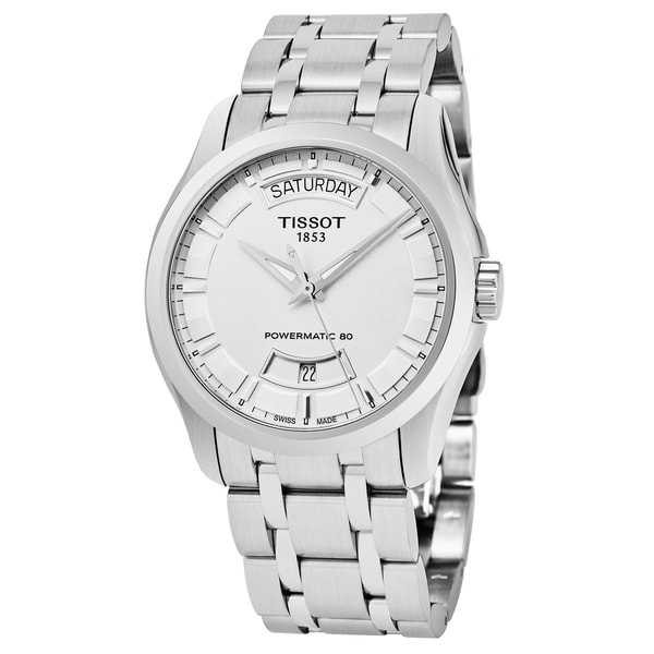 Tissot Men's T035.407.11.031.01 'Couturier' Silver Dial Stainless Steel Swiss Automatic Watch 29352003