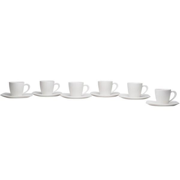 Hospitality White Espresso Cup & Saucer (Set of 6) 29356343
