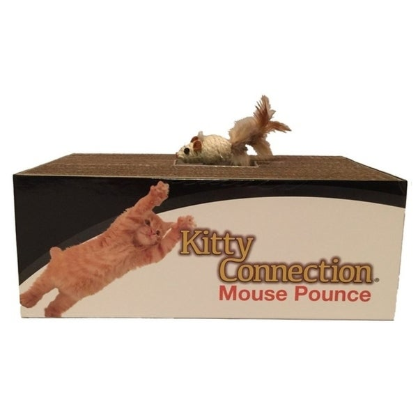 Kitty Connection Brown Mouse Pounce Cat Scratcher 29357043
