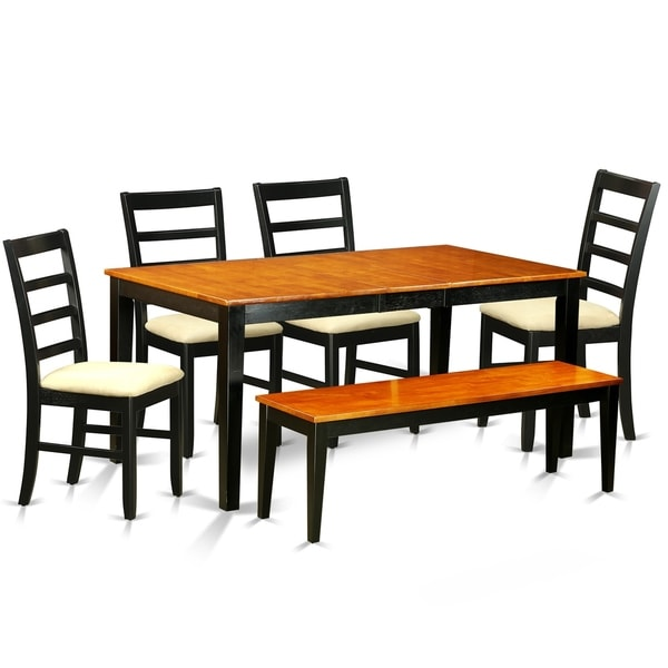 NIPF6-BCH  6-Pc Dining set - Tables and 4 Dining Chairs Plus bench