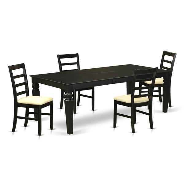 Lgpf blk c 5 pc kitchen table set with a dining table and for 8 pc kitchen set