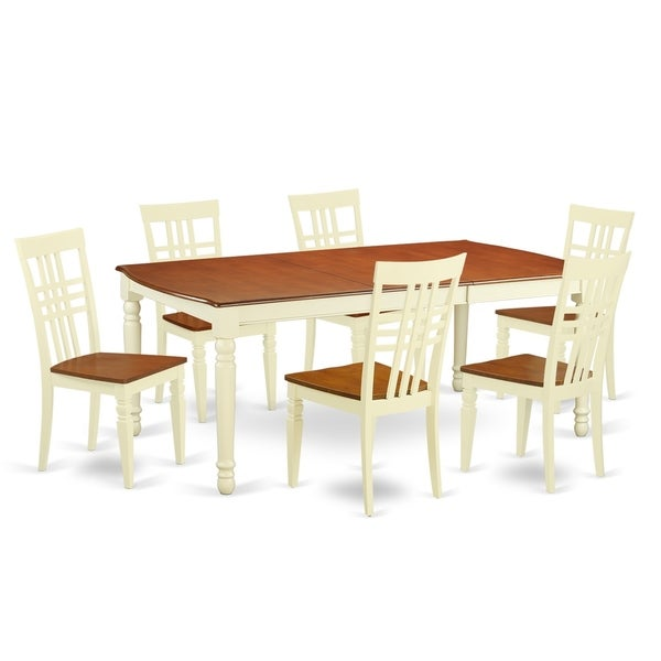 DOLG7-W  7 PC  Tables and chair set with a  Table and 6 Dining Chairs