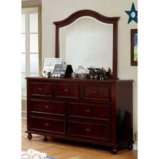 Furniture of America Dole Traditional 2-piece Dresser and Mirror Set