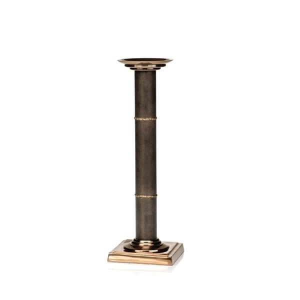 "20"" Tall Iron Pillar Candletick Holder, Bamboo Design 29385207"