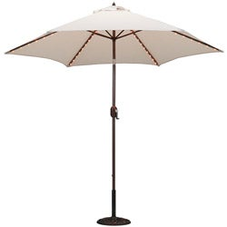 9-Foot Aluminum Thermometer/Lighted Umbrella w/Crank and Tilt