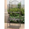 Iron Folding Patio Bakers Rack