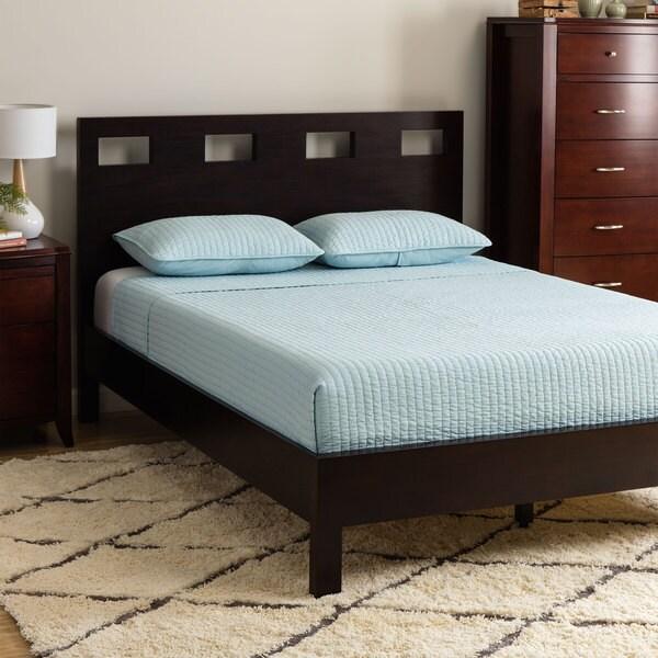 Rectangular Cutout Queen-size Platform Bed