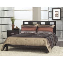 Rectangular Cutout Queen-size Platform Bed