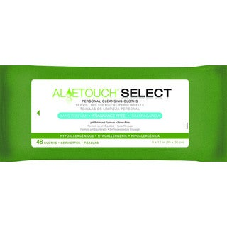 Medline AloeTouch Fragrance-Free Cleansing Wipes (Pack of 12)