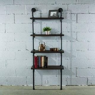 Furniture Pipeline Sacramento, 4-Shelf 27-Inch & 33-Inch Wide Etagere Pipe Bookcase Display