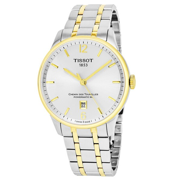 Tissot Men's  T099.407.22.037.00 'Chemin Des Tourelles' Silver Dial Two Tone Stainless Steel Swiss Powermatic Watch 29466016