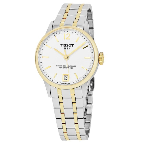 Tissot Women's T099.207.22.037.00 'Chemin Des Tourelle' Silver Dial Two Tone Stainless Steel Swiss Automatic Watch 29466068