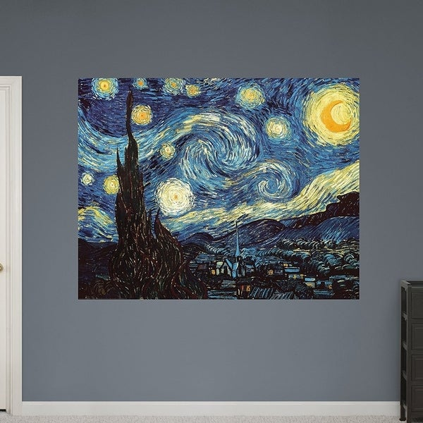 "Fathead Wall Decal, ""The Starry Night"" Wall Vinyl 29493592"