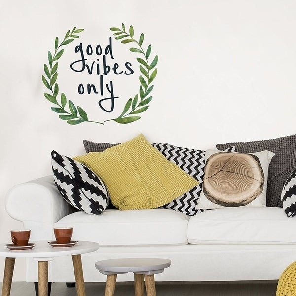 Wall Pops Good Vibes Only Quote Wall Vinyl 29493597
