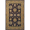 Handmade Traditions Tabriz Red/ Gold Wool and Silk Rug (5' x 8')