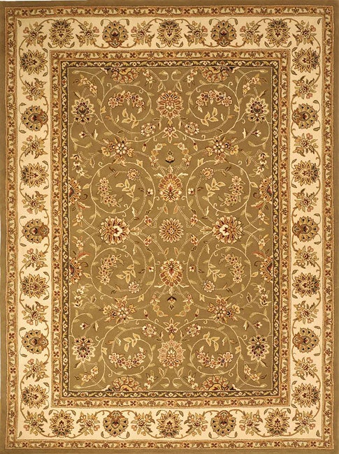 Safavieh Handmade Isfahan Sage/ Ivory Wool and Silk Rug (9'6 x 13'6)