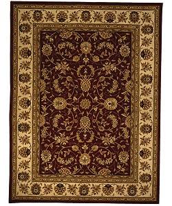 Safavieh Handmade Isfahan Burgundy/ Ivory Wool and Silk Rug (9'6 x 13'6)