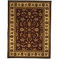 Safavieh Handmade Isfahan Burgundy/ Ivory Wool and Silk Rug (9'6 x 13'6)