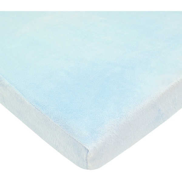 American Baby Company Heavenly Soft Blue Chenille Bassinet Sheet (Pack of 2) 29502276