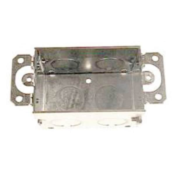 Raco  4-1/4 in. H Rectangle  1 Gang  Switch Box  1/2 in. Gray  Steel 29506947