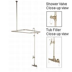 Vintage Satin Nickel Shower Set
