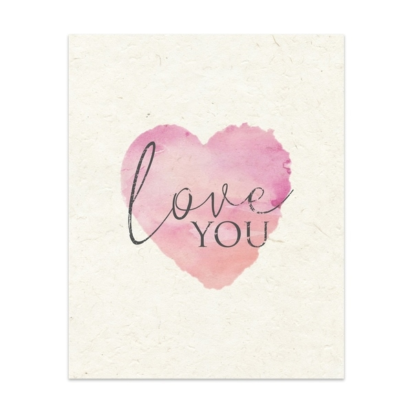 Love You Handmade Paper Print