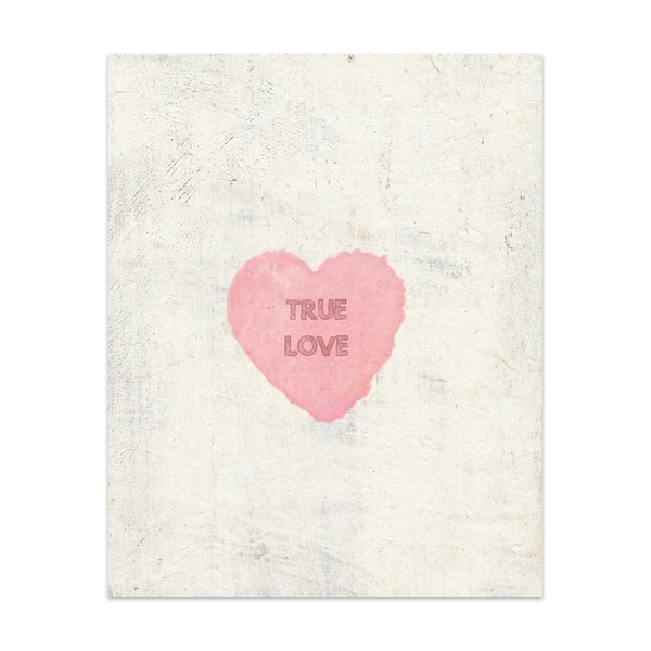 True Love Handmade Paper Print