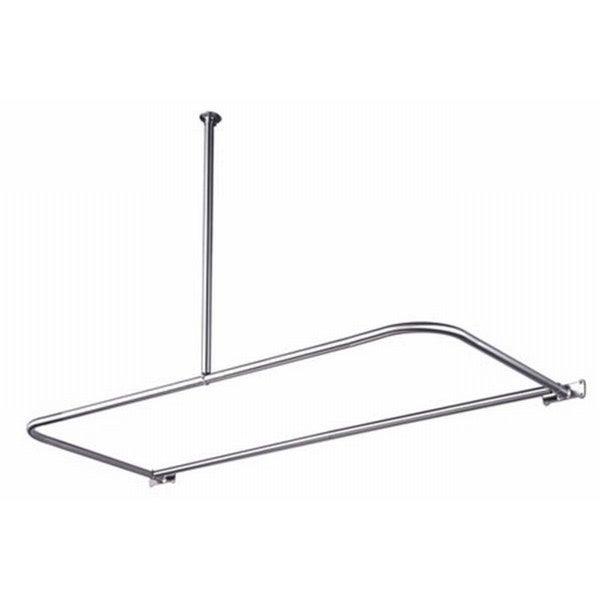 D-Type Chrome Shower Rod