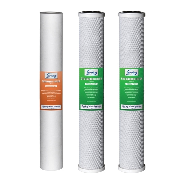 "iSpring Water Filter Replacement Pack for Whole House System20""x2.5"" 29518740"