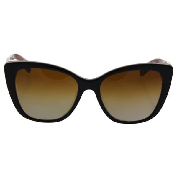 Dolce & Gabbana DG 4216 2790/T5 - Women's Top Havana On Mosaic/Brown Gradient Polarized Sunglasses 29529016