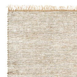 Hand-woven White Leather/ Hemp Rug (8' x 10')