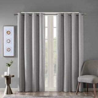 SunSmart Arlie Printed Heathered Blackout Single Window Curtain Panel