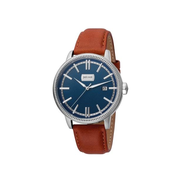 Just Cavalli Men's Quartz Leather Strap Watch 29600093