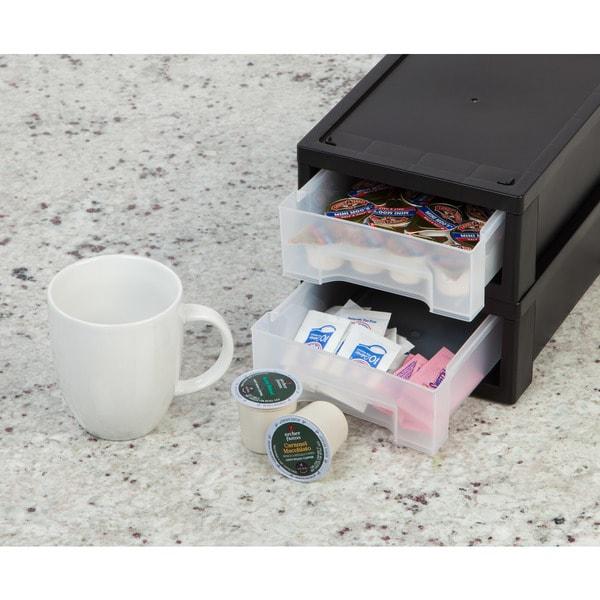 IRIS Small Desktop Stacking Drawer, 6 Pack, Clear 29600251
