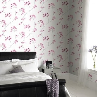 Graham & Brown Radiance White/ Pink Wallpaper 29602761