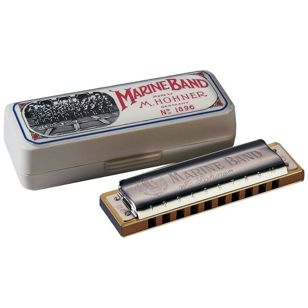 Hohner Marine Band Diatonic Harmonica - Key of D Major 29623644