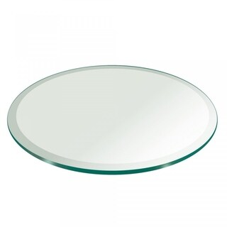 "3/4"" Thick Round Glass Table Top 1"" Beveled Polish Tempered"