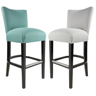 Sole Design Savannah Collection Modern Fabric SACHI Upholstered Counter Bar Stool with Concave Back Design
