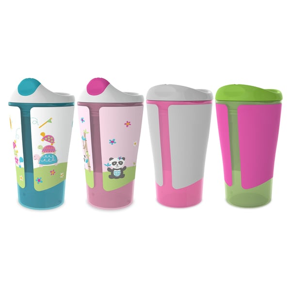 Born Free Grow with Me Pink 10-ounce Sippy Cup Spoutless Cup Set 29625390