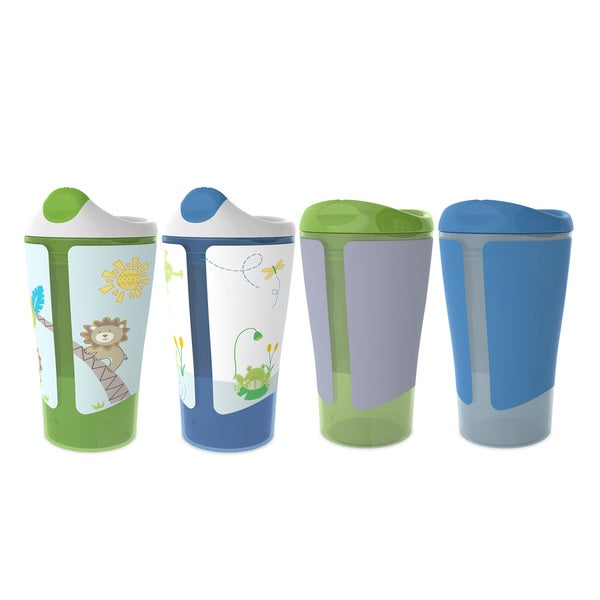 Born Free Grow with Me Blue 10-ounce Sippy Cup Spoutless Cup Set 29625428